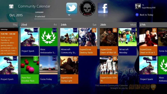 Community Calendar app xbox one