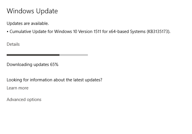 Cumulative Update KB3135173