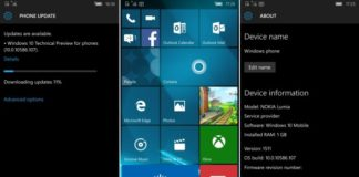 Windows 10 Mobile Preview build 10586.107