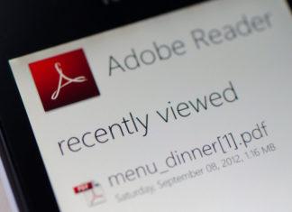 Adobe Reader app updated