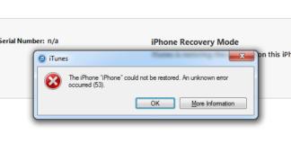 iphone error 53