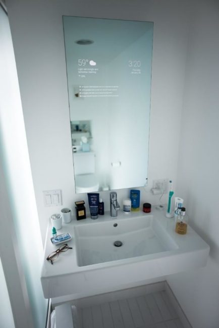 Android powered bathroom mirror 1