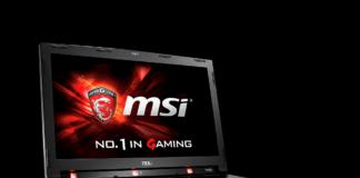 MSI gaming laptop with Tobii eye-tracking technology