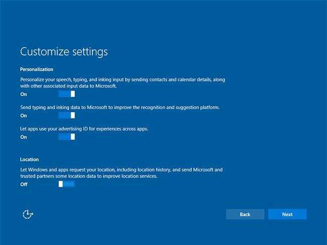 Windows 10 1607 new installation