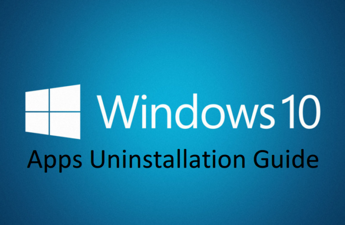 How to remove windows 10 apps