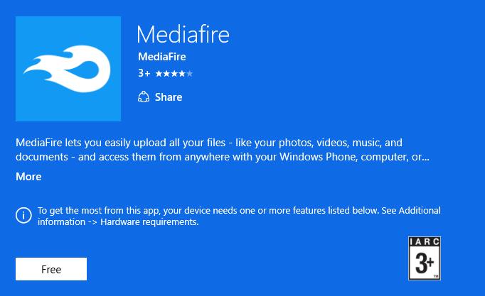 Mediafire Universal app