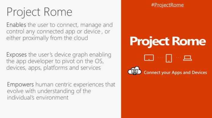 Microsoft Project Rome