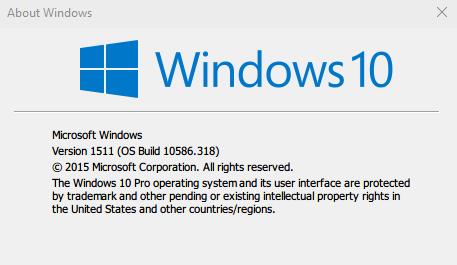 10.0.10586.318 Build 10586.318 KB3156421