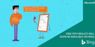 Bing search CBSE board 10th results