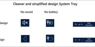 New Cortana Setting, system tray, sound icon, battery icon