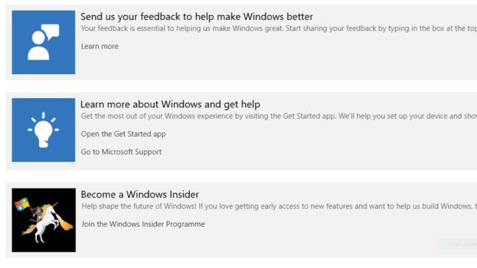 feedback Hub app