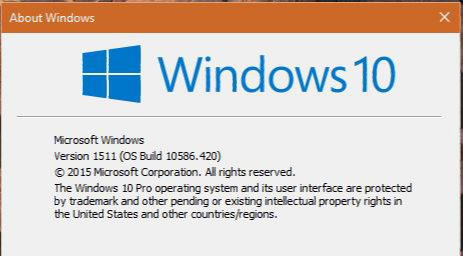 Windows 10 Build 10586.420