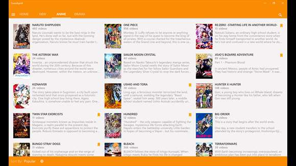 Crunchyroll app for Japanese anime