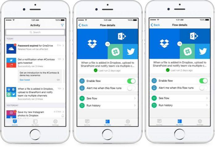 Microsoft Flow app