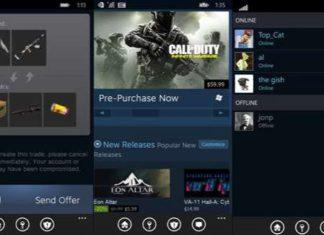 Steam app for Windows 10 Mobile