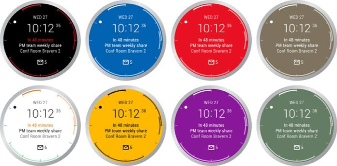 Microsoft Outlook smart watch face for Android Wear