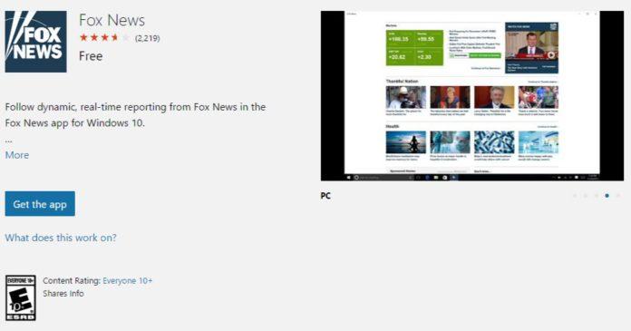 Fox News UWP app Fox News universal app now available for Windows 10 U.S users