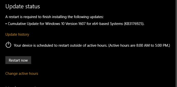 KB3176925 build 14393.3