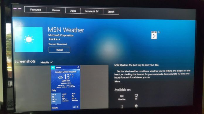 MSN Weather app Weather UWP app, Hulu UWP app, and Netflix UWP app