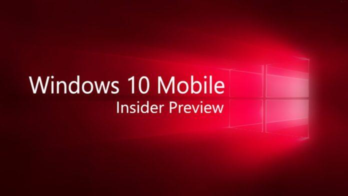 Windows 10 Insider Mobile Build 10.0.14383