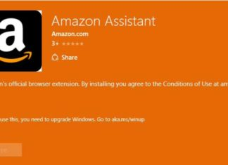 Amazon Assistant extension for Edge browser