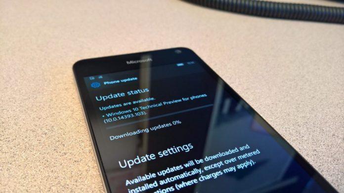 Windows 10 Mobile Build 10.0.14393.103