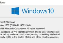 Windows 10 build 14393.103 mobile build 10.0.14393.103)
