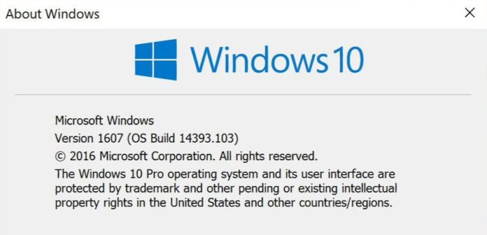Windows 10 build 14393.103 mobile build 10.0.14393.103)