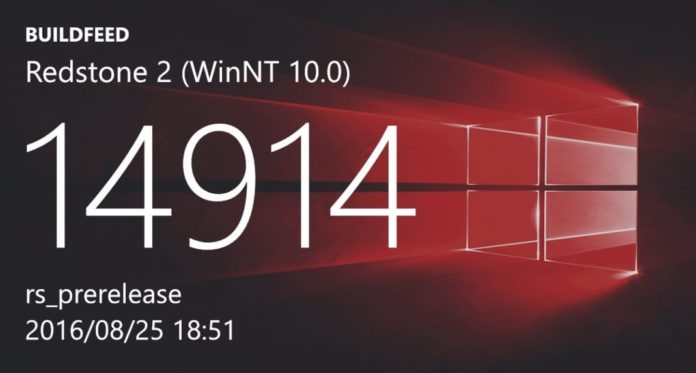 Redstone 2 build 14914 (10.0.14914.1000)