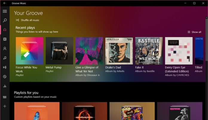 Groove Music App version 3.6.2438.0