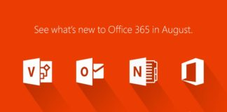 New in Microsoft Office 365 August Update