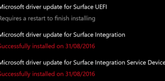 August firmware update for Surface Pro 4 and Surface Book