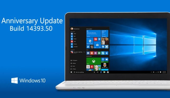 Windows 10 Build 14393.50 build 10.0.14393.50) leaked info