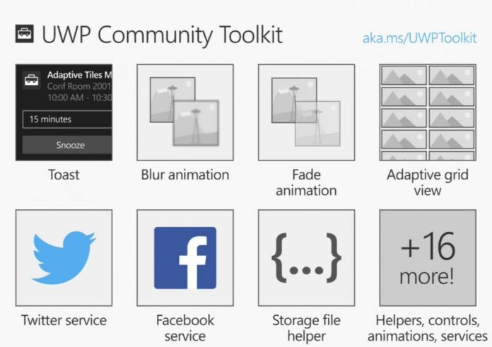 Microsoft open-source UWP Community Toolkit