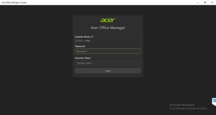 Acer Office Manager Console app
