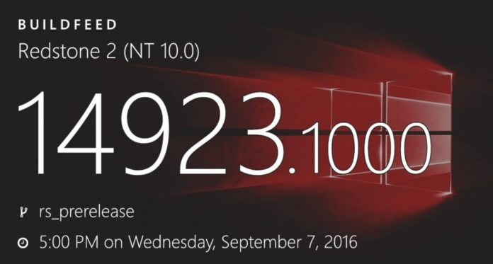 Windows 10 build 14923 and mobile build 10.0.14923.1000