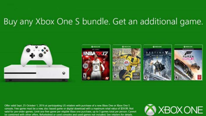 Get an Extra Free Game with Xbox One S for a Week