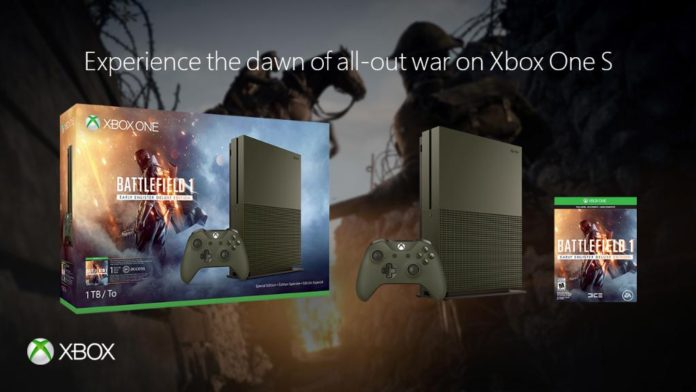 Xbox One S Battlefield 1 Bundles announced