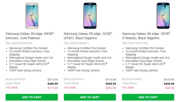 Samsung refurbished Galaxy flagships