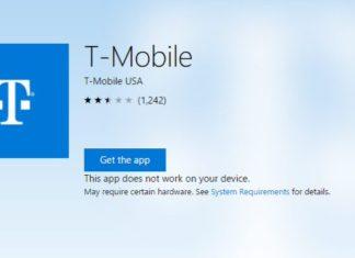 T-Mobile app for Windows 10 Mobile
