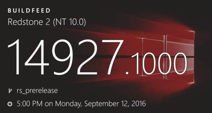 Windows 10 Redstone 2 build 14927 (10.0.14927.1000)