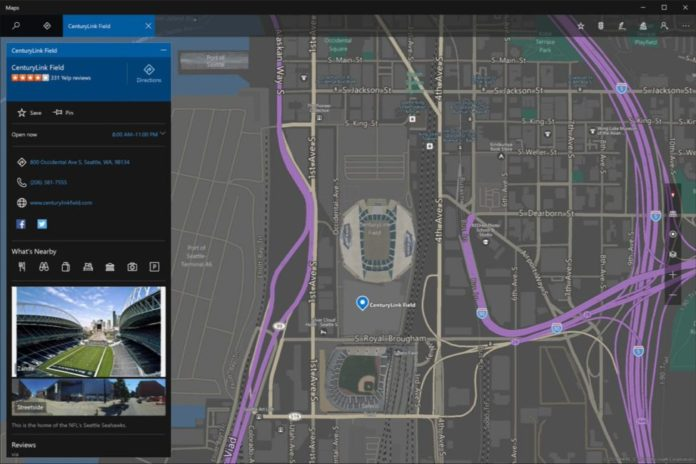 Windows Maps update version 5.1609.2581
