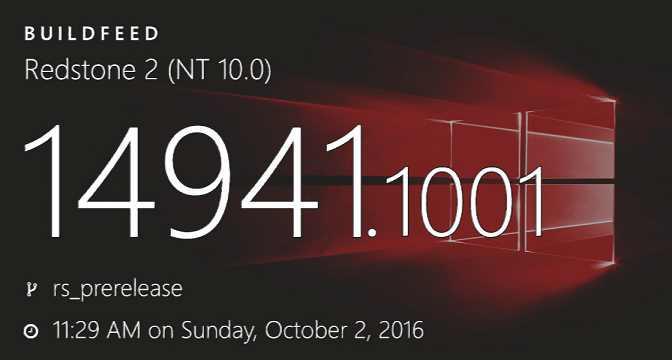 Build 10.0.14941.1001