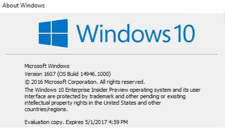 Windows 10 Insider Build 14946