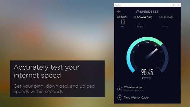 Speedtest.net app