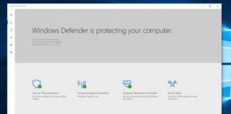 Windows Defender Security Center apps