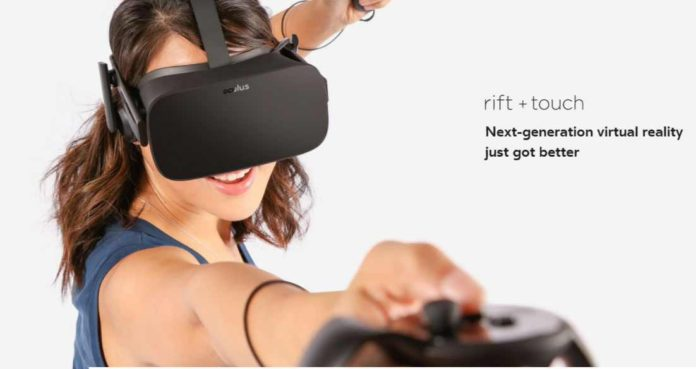 Oculus Touch controllers pre-order