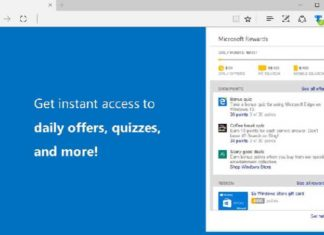Microsoft Rewards extension for Edge