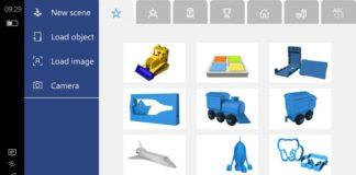 Microsoft 3D Builder app for Windows 10 mobile