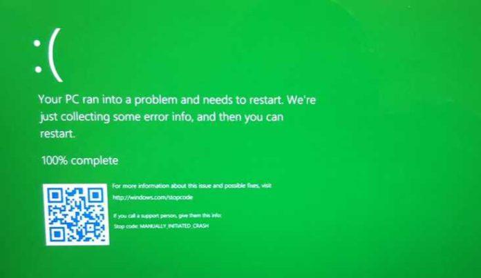 Green Screen of Death GSOD